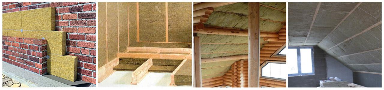 сфера применения каменной ваты утепление базальтовой ватой пола стен потолка мансарды